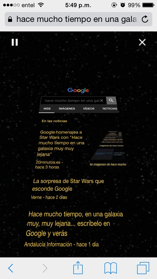 """escriban en google. """"hace mucho tiempo en una galaxia muy muy lejana"""" - meme"""