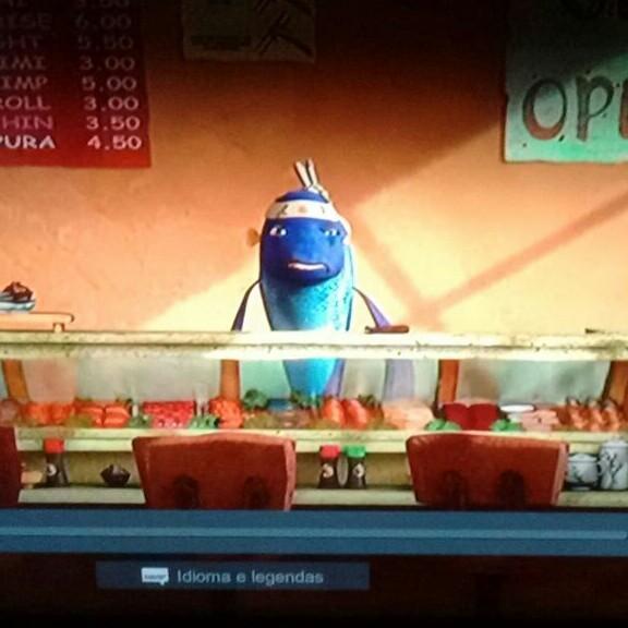 peixe vendendo sushi - meme