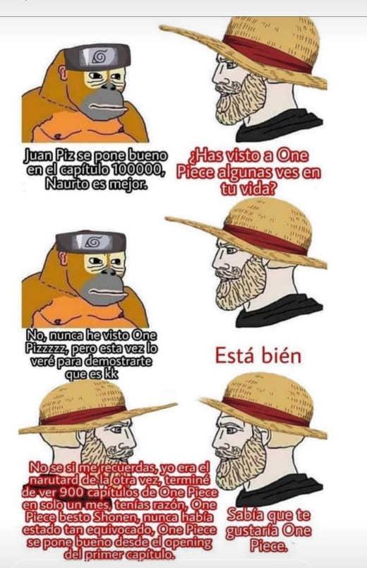 Nunca he visto One Piece - meme