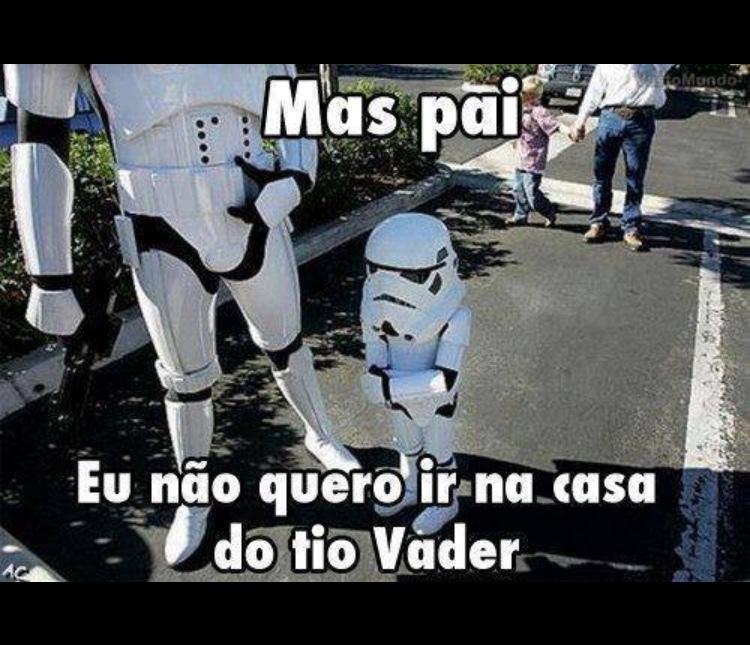o tio Vader não pai,quero o tio Palpatine - meme