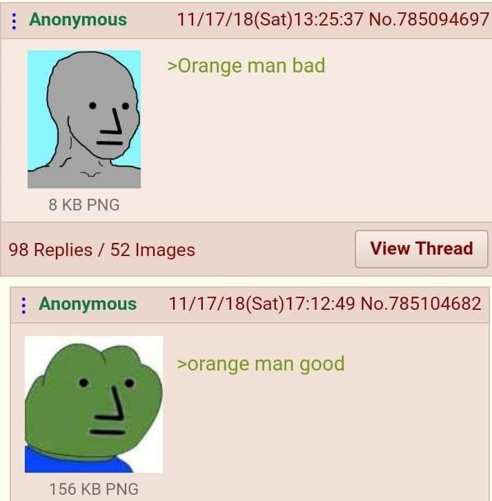 Orange man - meme
