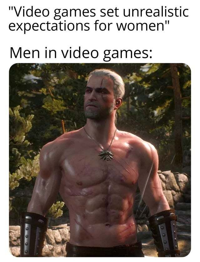 Video games set unrealistic expectations for women - meme