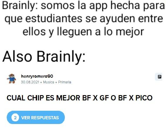 viva brainly :chad: ( :geek: ) - meme