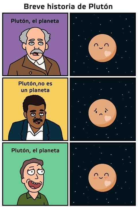 Plutón - meme