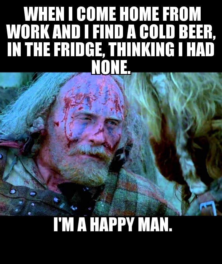 Beer for breakfast! - meme