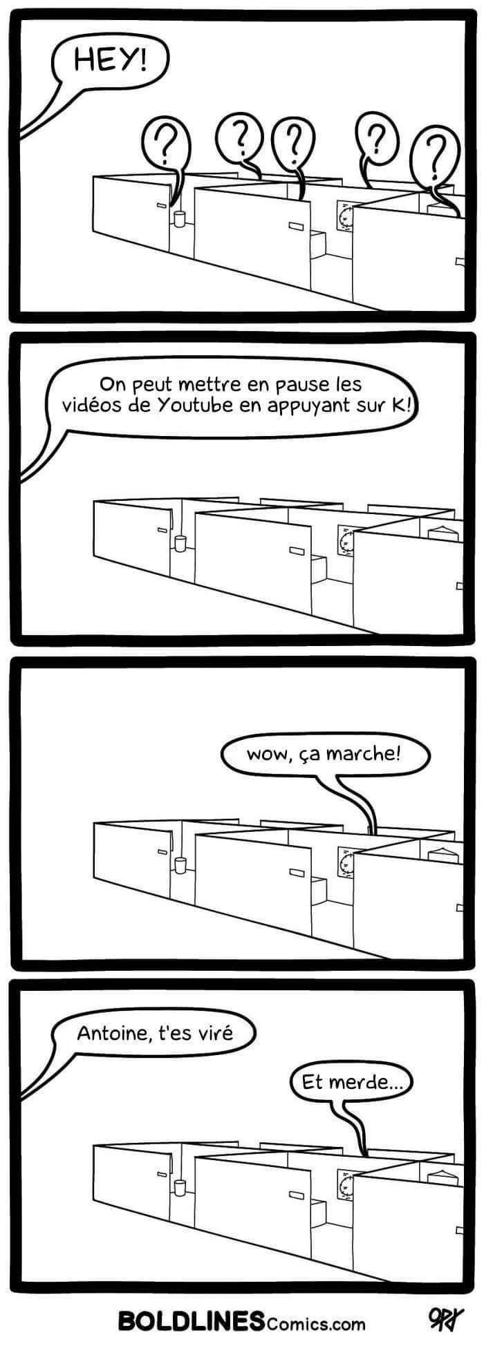 La vie cachée au bureau - meme