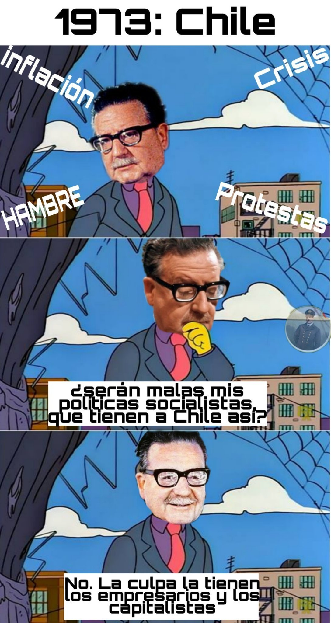 Antes que ocurriera lo de Pinochet - meme