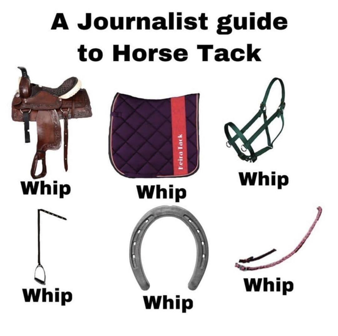 Horse Tack Guide - meme