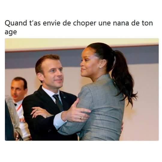 Rihanna macron - meme