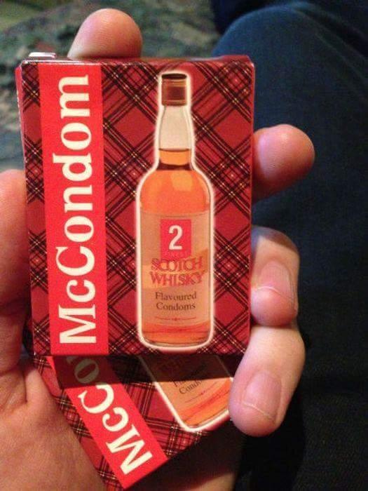 Des préservatifs goût whisky, pourquoi pas... - meme