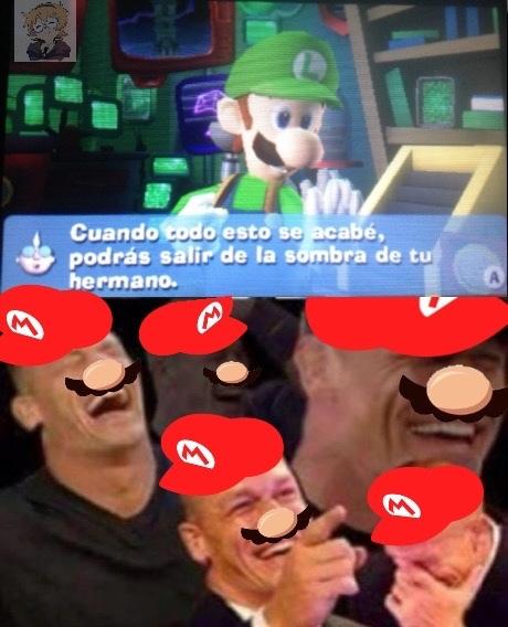 Le yo jugando Luigi's Mansion: DM en 2018 - meme