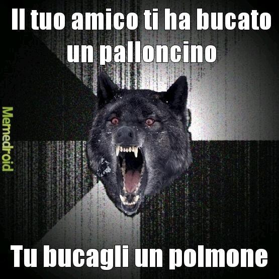 È tornato insanity wolf - meme