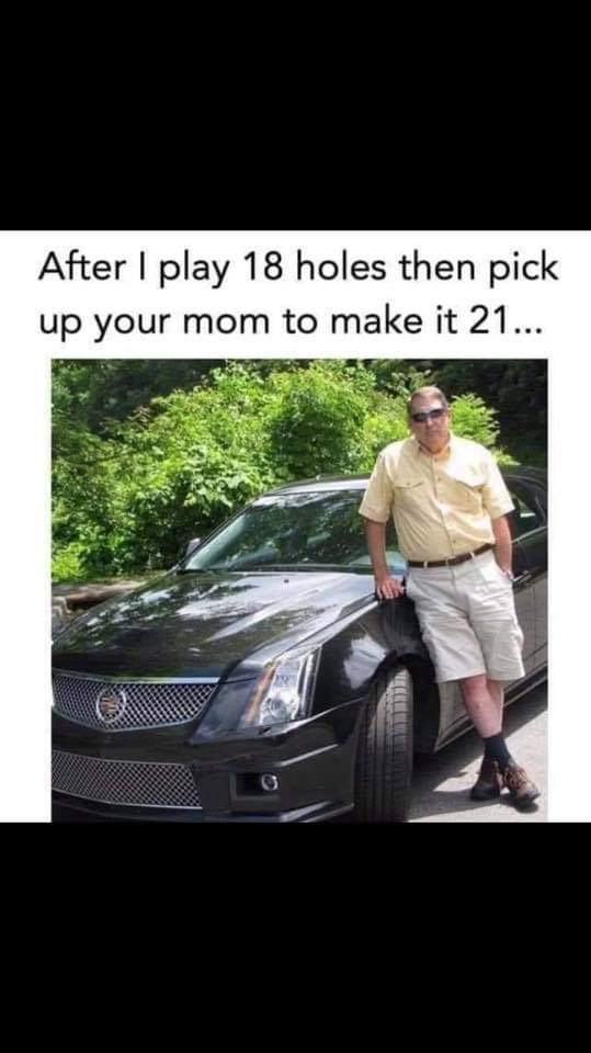 Golf step Dad - meme
