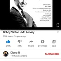 I love Bobby vinton
