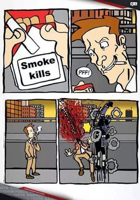 Fumadores bergas - meme