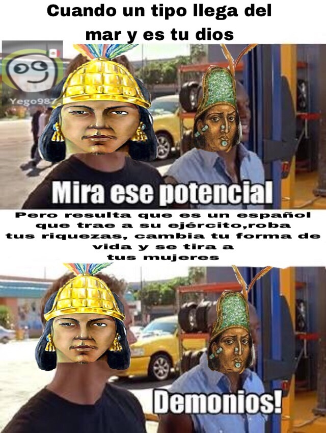 los aztecas - meme