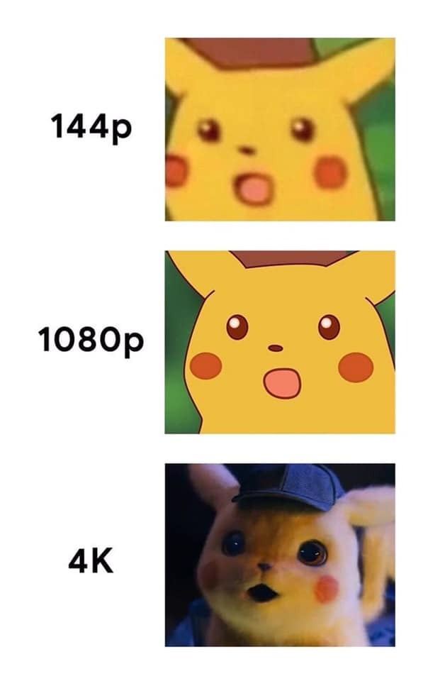 Pikachu got upgraded - meme