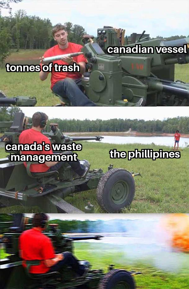 They will declare war because of the unauthorized trash dumping - meme