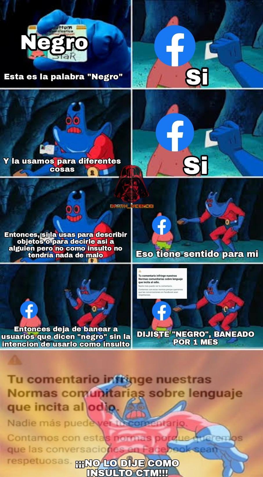 El algoritmo de facebook no sirve - meme