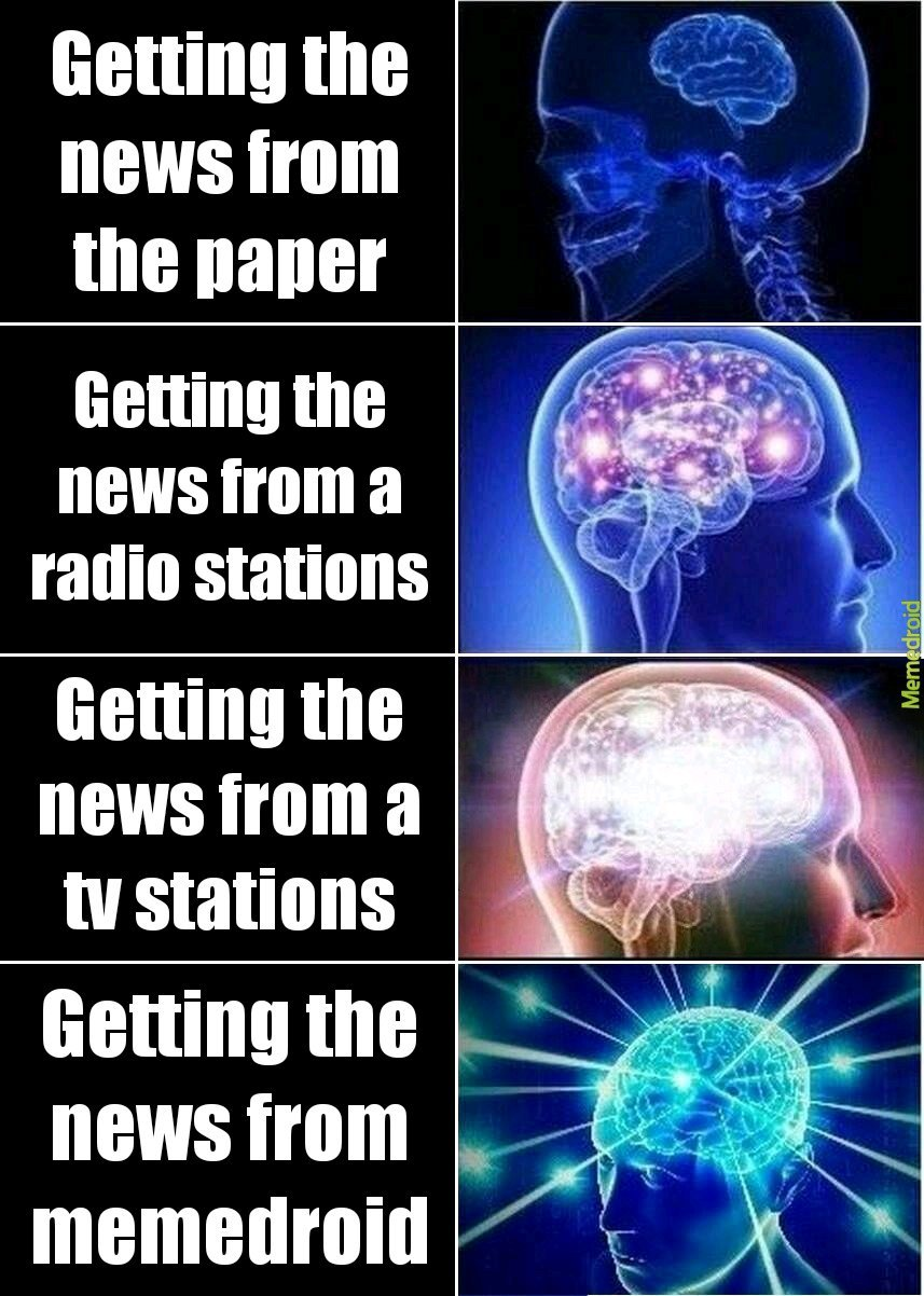 The best place for news - meme
