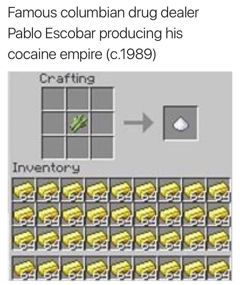 Cocaine is my bane - meme
