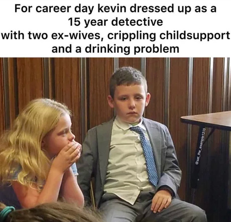Perfect costume for career day - meme