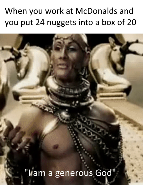 A generous God - meme