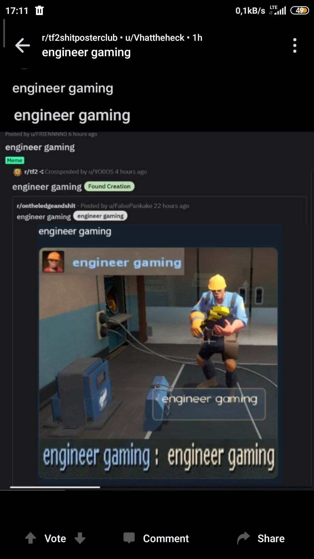 engineer gaming - meme