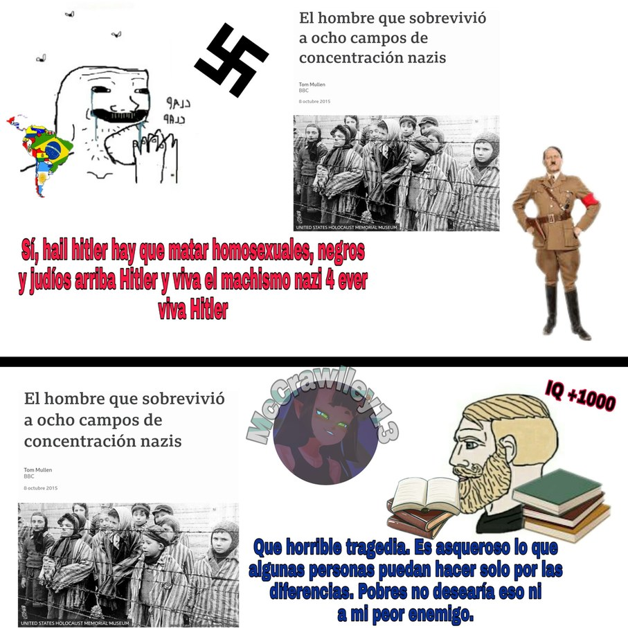 Me di cuenta de que hay un monton de edgys creyendose nazi así que le hice meme xd