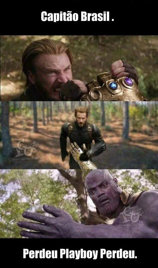 Thanos no brasil - meme