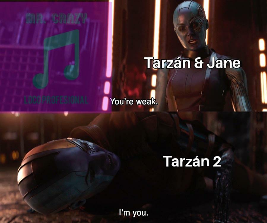 Las secuelas de Tarzán - meme