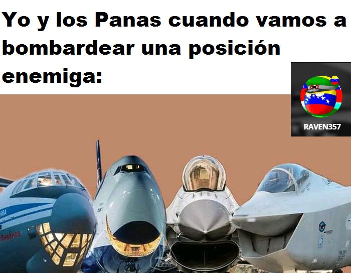 Creo que teóricamente se puede equipar un avión comercial para que funcione como bombardero :) - meme