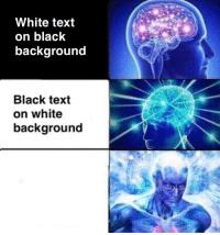 Write text on white backround - meme