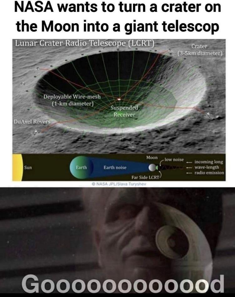 Death Star moon - meme