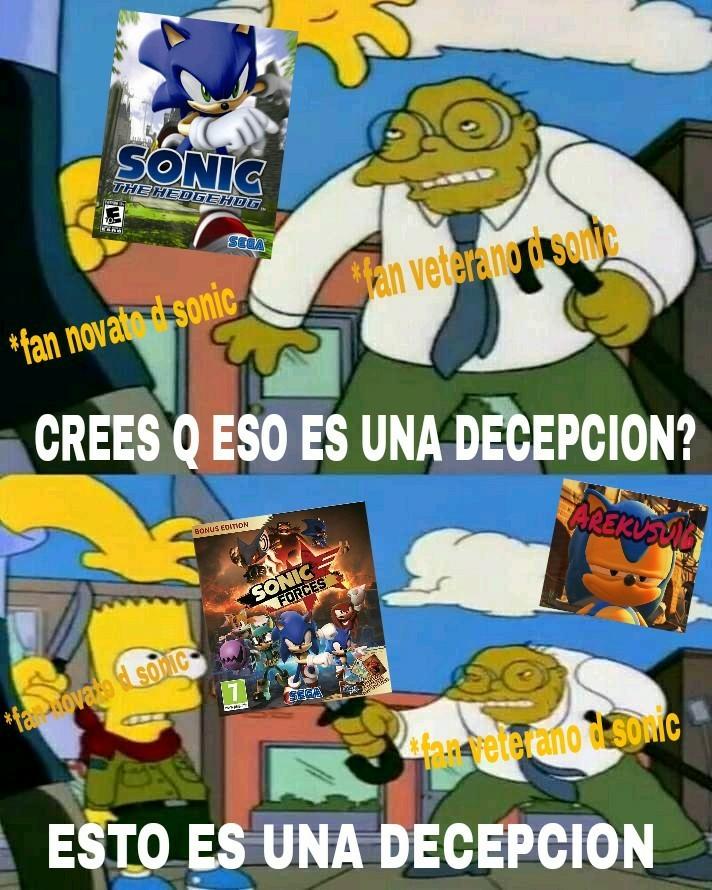 Ambos son malos, pero al menos Sonic 06 tiene mejor musica e historia que Sonic Forces - meme