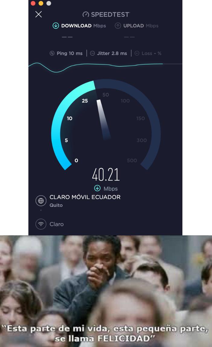 siempre esta a 12 mbps - meme