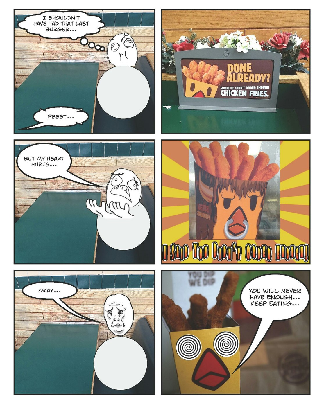 Submit to the chicken fries. You can't resist the tasty overlord - meme