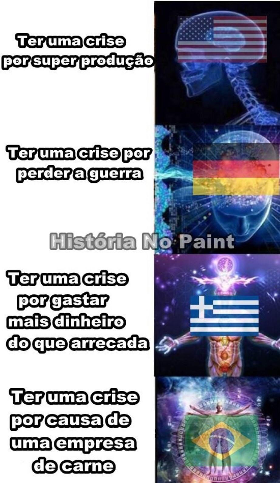 cada país tem a crise que merece - meme