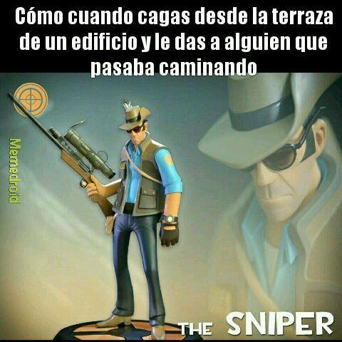 El sniper jajaja - meme