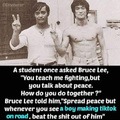 Wise words by Bruce Lee