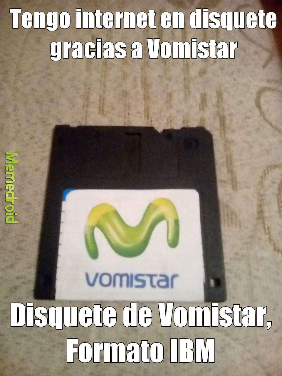 Estos de Vomistar ahora tienen internet en disquetes, formato IBM - meme