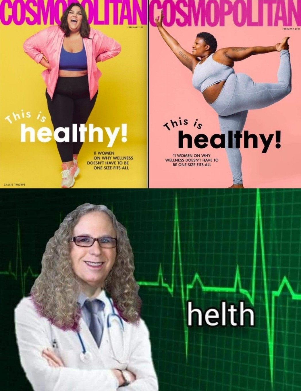 US version of healthy - meme