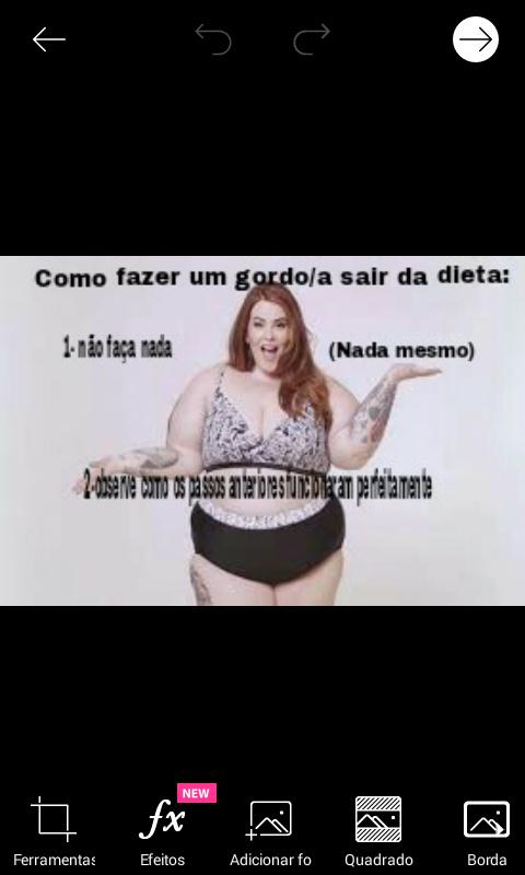 Gordo fazendo dieta é que nem fumante parar de fumar - meme