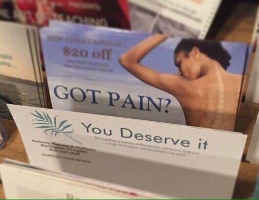 Pain is fun - meme