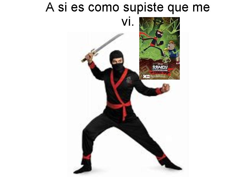 no encontré la imagen de un ninja parecido a Randy con mas calidad - meme