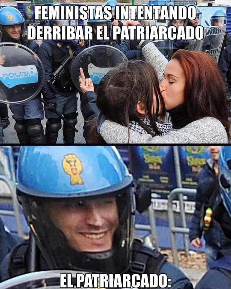Jaja que pillin es policía  - meme