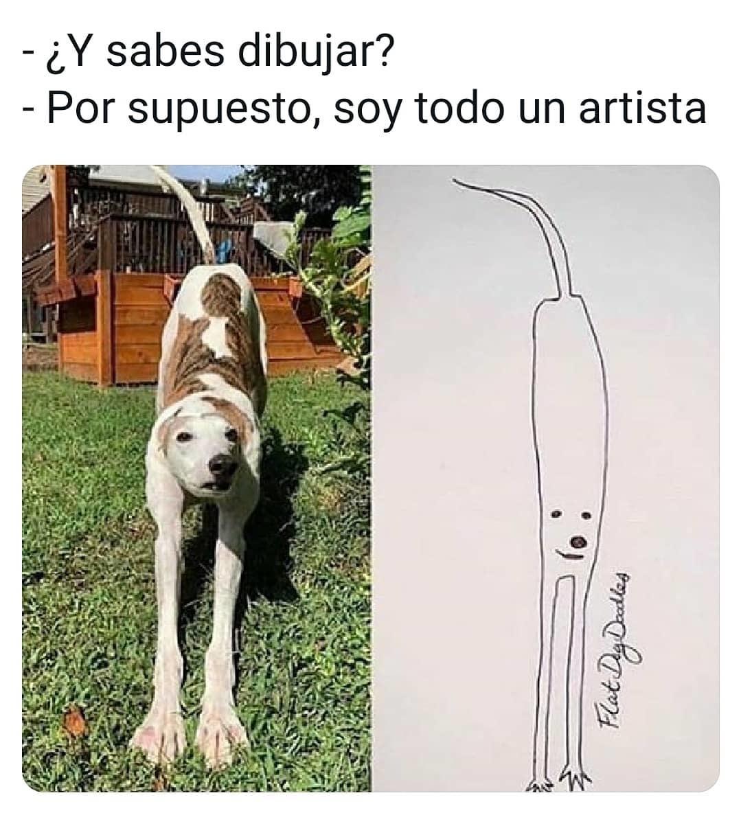 Como dibujo un perro - meme