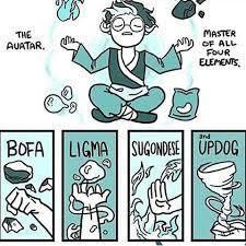 The four elements of balls - meme