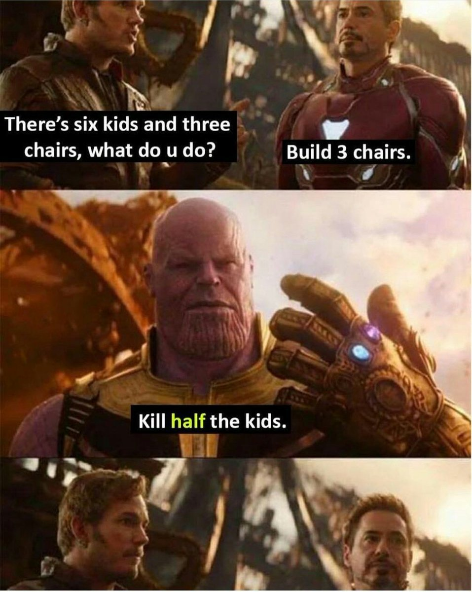 kill half the kids - meme