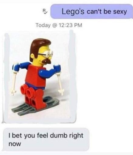 legos can't be sexy - meme